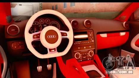 Audi S3 Slaam para GTA San Andreas vista interior
