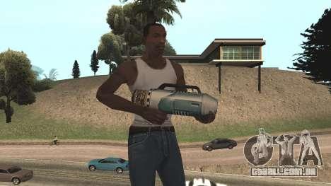 Spudgun from Bully SE para GTA San Andreas quinto tela