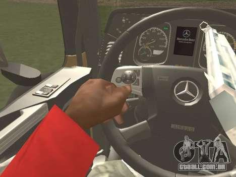 Mercedes-Benz Actros Mp4 6x2 v2.0 Gigaspace para GTA San Andreas vista inferior