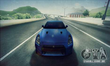 Nissan GT-R R35 Premium para GTA San Andreas traseira esquerda vista