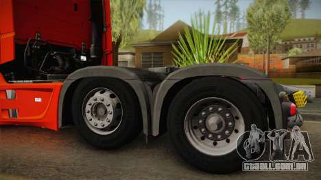 Mercedes-Benz Actros Mp4 6x2 v2.0 Steamspace v2 para GTA San Andreas vista direita