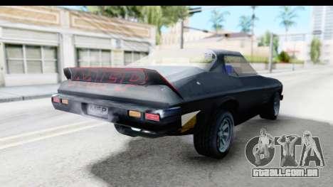 Holden Monaro 1972 Nightrider para GTA San Andreas traseira esquerda vista