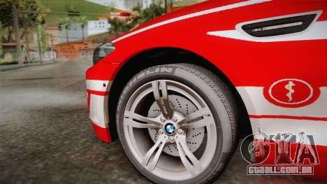 BMW M5 Touring NEF para GTA San Andreas traseira esquerda vista