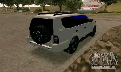 Toyota Land Cruiser 95 para GTA San Andreas traseira esquerda vista