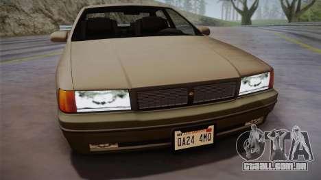 Declasse Premier 1992 SA Style para GTA San Andreas traseira esquerda vista