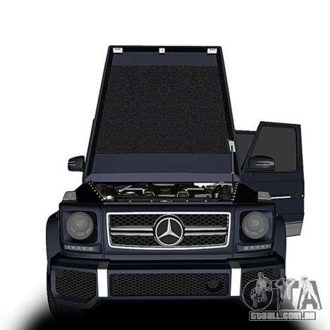 Mercedes-Benz G63 para GTA San Andreas traseira esquerda vista