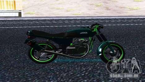 Jawa 350 638 Sports para GTA San Andreas esquerda vista