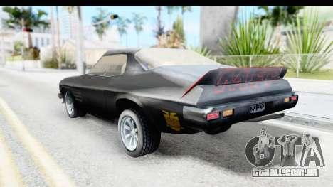 Holden Monaro 1972 Nightrider para GTA San Andreas esquerda vista