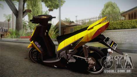 Honda Vario Yellow Shines para GTA San Andreas esquerda vista