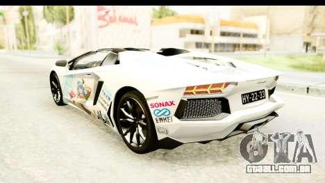 Lamborghini Aventador LP700-4 Roadster v2 para as rodas de GTA San Andreas