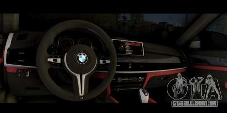 BMW X6M F86 M Performance para GTA San Andreas vista direita