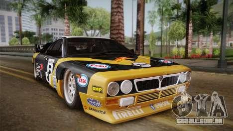 Lancia Rally 037 Stradale (SE037) 1982 IVF Dirt2 para GTA San Andreas traseira esquerda vista