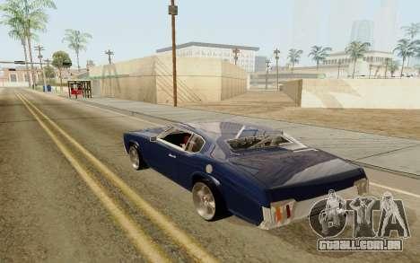 HD Sabre Greedy para GTA San Andreas esquerda vista