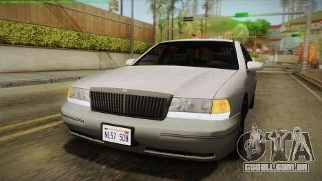 Willard Elegant IVF para GTA San Andreas vista traseira