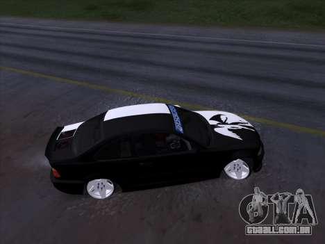 BMW E46 Good and Evil para GTA San Andreas vista interior