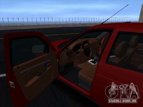VAZ 2170 STANCE para GTA San Andreas vista superior