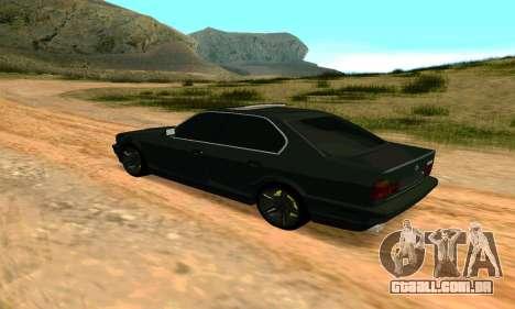 BMW 535i E34 para GTA San Andreas esquerda vista
