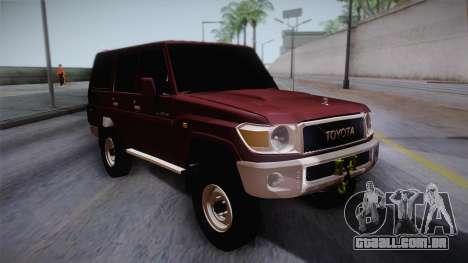 Toyota Land Cruiser 4 Puertas Original para GTA San Andreas