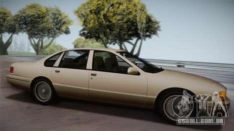 Declasse Premier 1992 SA Style para GTA San Andreas esquerda vista