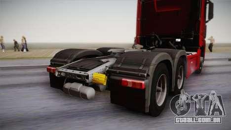 Mercedes-Benz Actros Mp4 6x4 v2.0 Bigspace v2 para GTA San Andreas vista direita