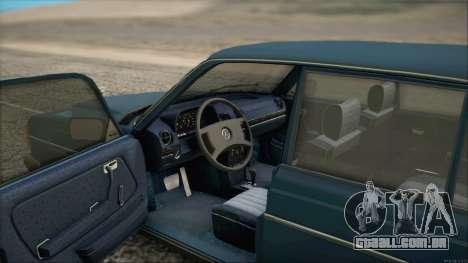 Mercedes-Benz 240D para GTA San Andreas traseira esquerda vista