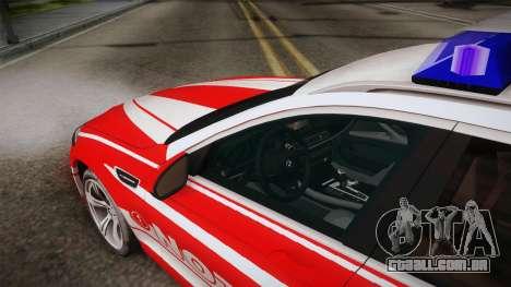 BMW M5 Touring NEF para GTA San Andreas vista interior