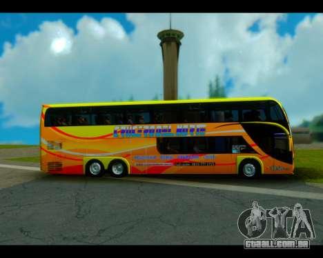 Metalsur Starbus II CRUCERO DEL NORTE para GTA San Andreas traseira esquerda vista
