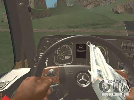 Mercedes-Benz Actros Mp4 4x2 v2.0 Bigspace v2 para GTA San Andreas vista traseira