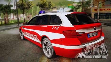 BMW M5 Touring NEF para GTA San Andreas esquerda vista