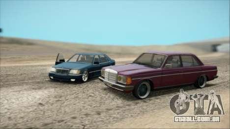 Mercedes-Benz 240D para GTA San Andreas vista traseira