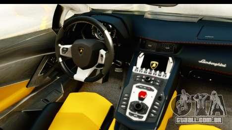 Lamborghini Aventador LP700-4 Roadster v2 para GTA San Andreas vista interior