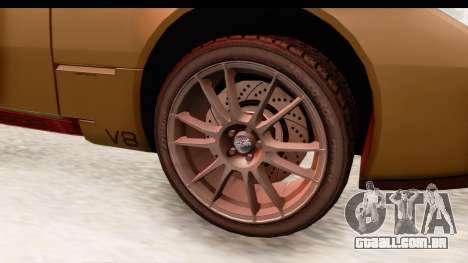 Spada Codatronca TS para GTA San Andreas vista traseira