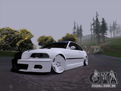BMW E46 Good and Evil para GTA San Andreas esquerda vista