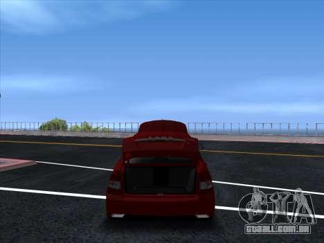 VAZ 2170 STANCE para GTA San Andreas vista traseira