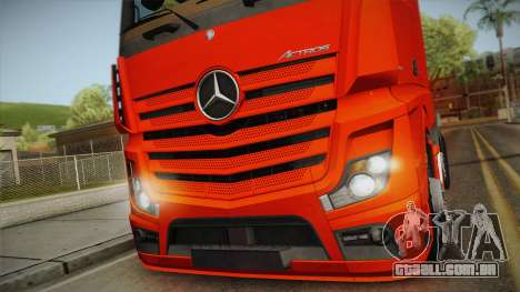 Mercedes-Benz Actros Mp4 6x2 v2.0 Steamspace v2 para GTA San Andreas traseira esquerda vista