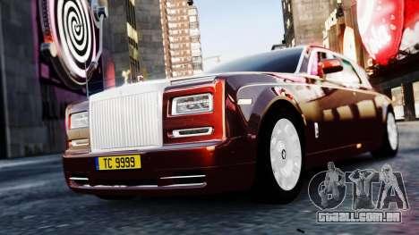 Rolls-Royce Phantom EWB 2013 para GTA 4 traseira esquerda vista