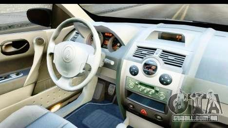 Renault Megane 2 Sedan 2003 v2 para GTA San Andreas vista interior