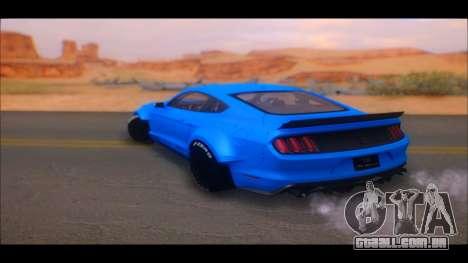 Ford Mustang 2015 Liberty Walk LP Performance para GTA San Andreas traseira esquerda vista