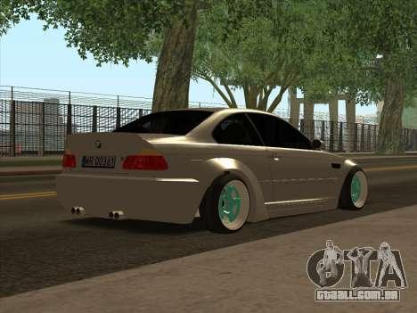 BMW E46 para GTA San Andreas traseira esquerda vista