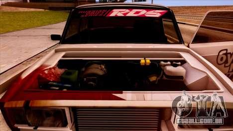 2107 para GTA San Andreas vista traseira