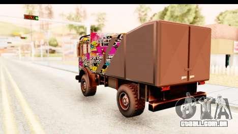 Sticker Bomb Dune para GTA San Andreas esquerda vista