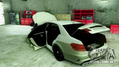 Mercedes-Benz E63 v.2 para as rodas de GTA San Andreas