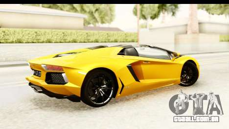 Lamborghini Aventador LP700-4 Roadster v2 para GTA San Andreas esquerda vista