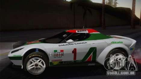Lancia Stratos para GTA San Andreas traseira esquerda vista