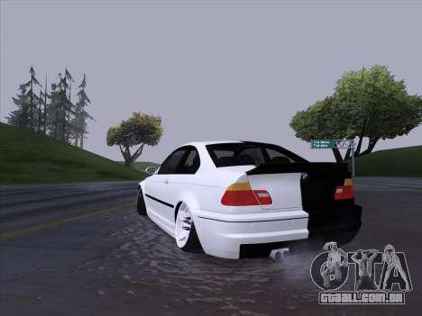 BMW E46 Good and Evil para GTA San Andreas vista direita