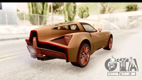 Spada Codatronca TS para GTA San Andreas traseira esquerda vista