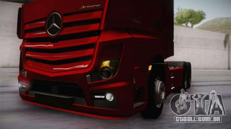 Mercedes-Benz Actros Mp4 6x4 v2.0 Bigspace v2 para vista lateral GTA San Andreas