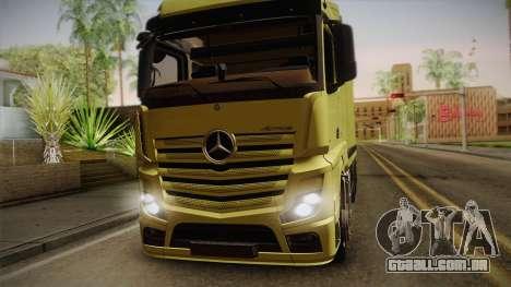 Mercedes-Benz Actros Mp4 v2.0 Tandem Big para GTA San Andreas traseira esquerda vista