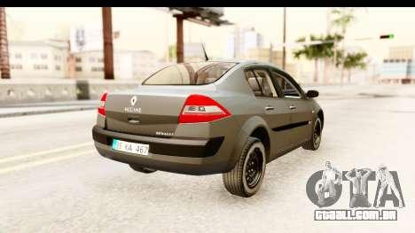 Renault Megane 2 Sedan Unmarked Police Car para GTA San Andreas vista direita