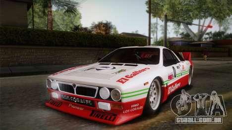 Lancia Rally 037 Stradale (SE037) 1982 IVF Dirt1 para as rodas de GTA San Andreas